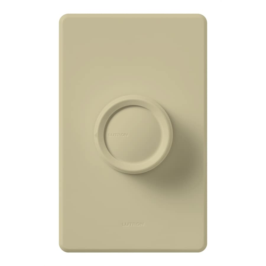 Lutron Rotary 600-Watt Single Pole Ivory Indoor Dimmer