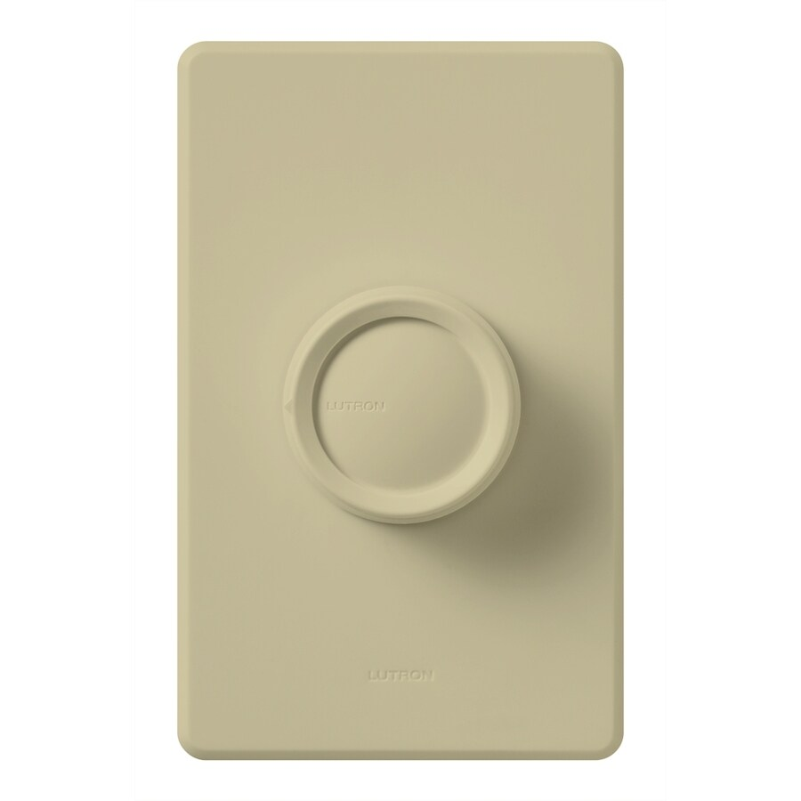 Lutron Rotary 600-watt Single Pole 3-way Ivory  Indoor Dimmer