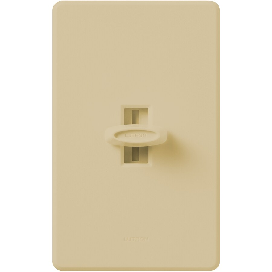 Lutron Glyder 600-Watt Single Pole Ivory Indoor Slide Dimmer