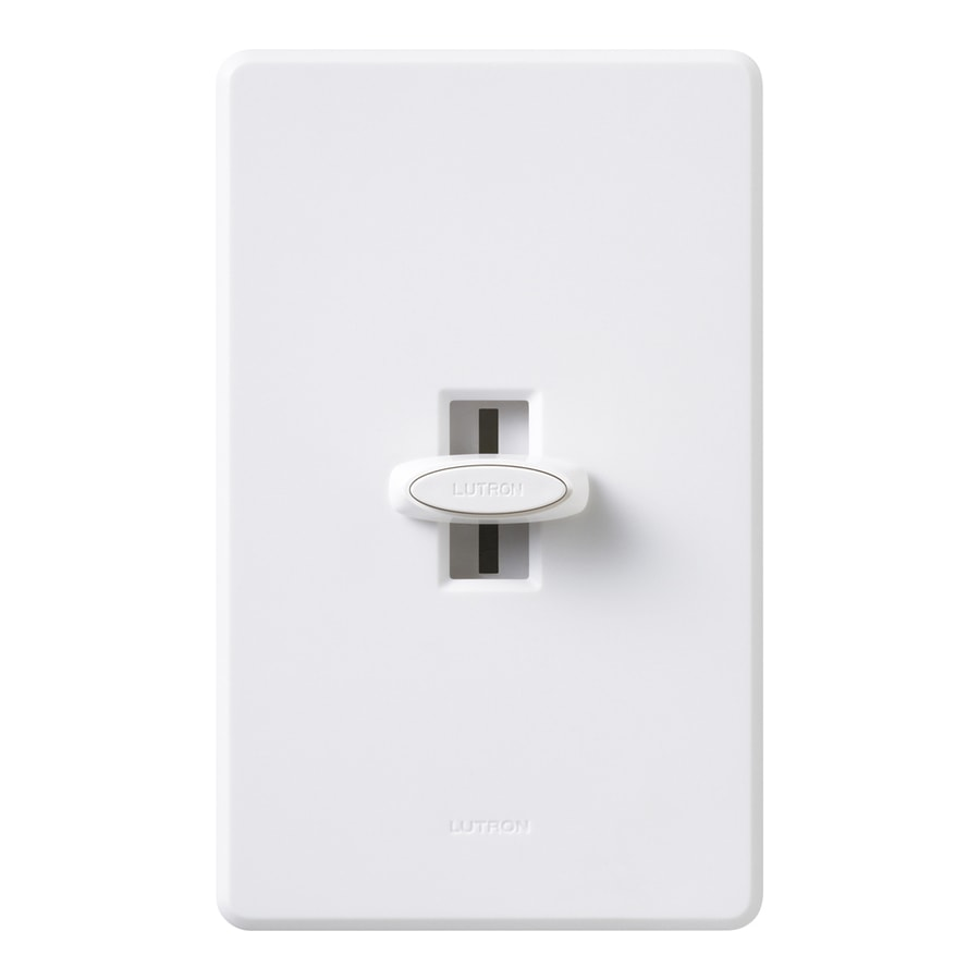 Lutron Glyder-Switch 3-Way White Dimmer