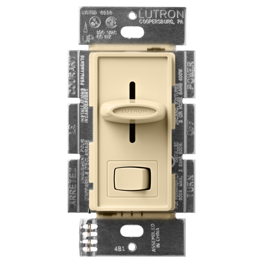 Lutron Skylark 600-Watt Single Pole 3-Way Ivory Indoor Dimmer