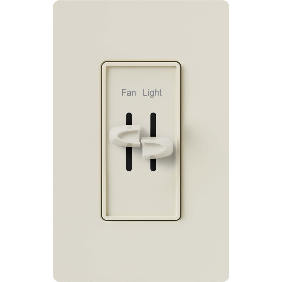 Lutron Skylark 0-Switch 2-Amp Single Pole White Indoor (Control) Combination Dimmer and Fan Control