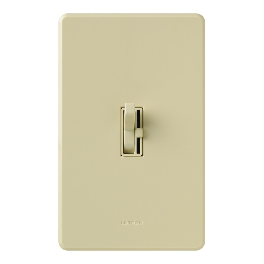 Lutron Toggler 1,000-Watt Single Pole 3-Way Ivory Indoor Toggle Dimmer