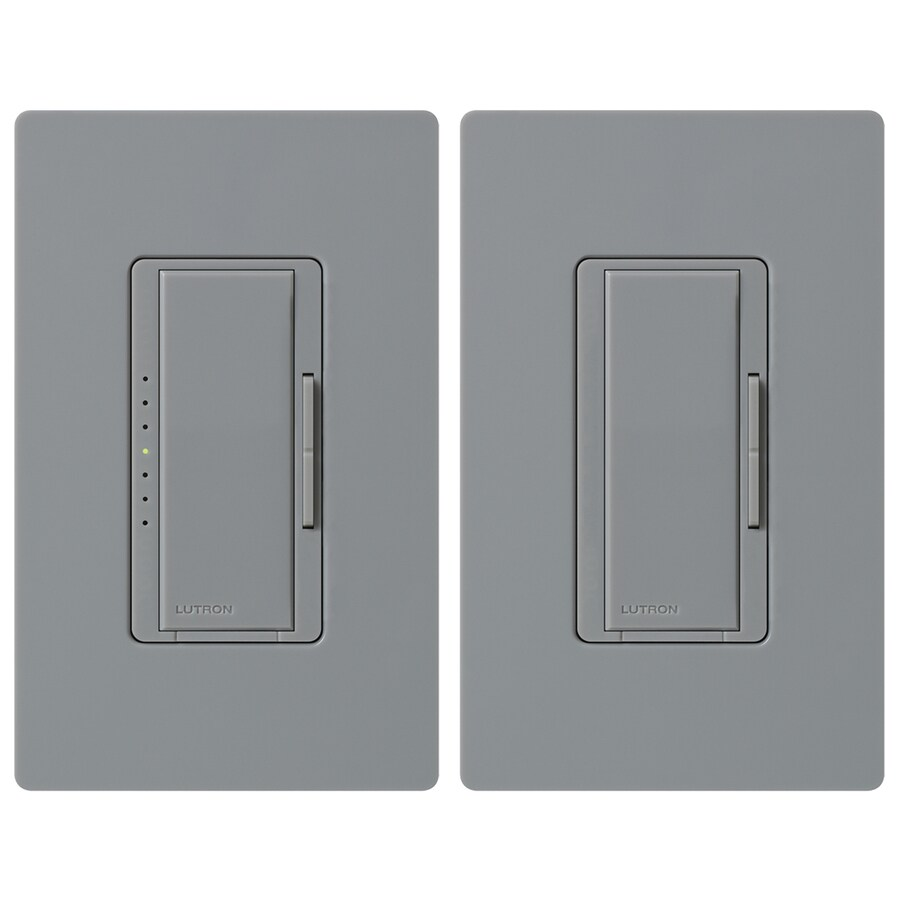 Shop Lutron Maestro 600-Watt Double Pole 3-Way/4-Way Gray Tap Indoor ...