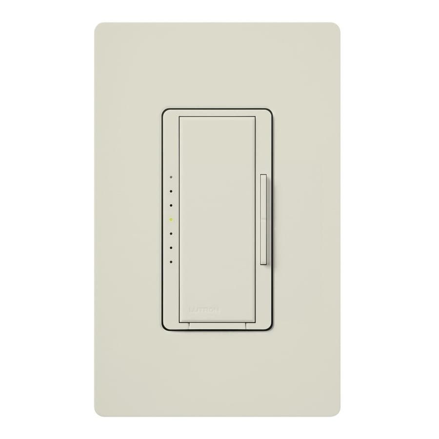 Lutron Maestro 600-Watt Double Pole 3-Way/4-Way Light Almond Indoor Tap Dimmer