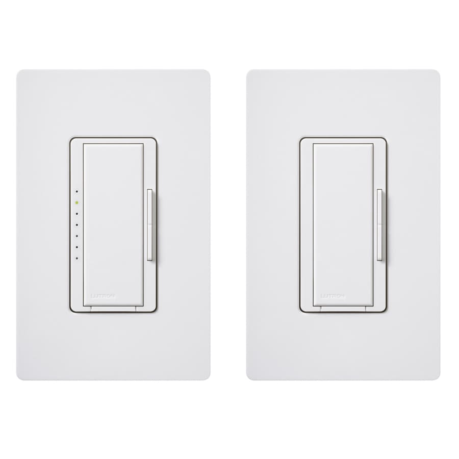 Lutron Maestro 600-Watt Double Pole 3-Way/4-Way White Indoor Tap Dimmer
