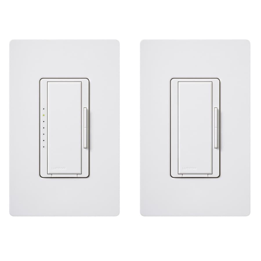Lutron Maestro 1-Switch 600-Watt Double Pole 3-Way/4-Way White Tap Dimmer