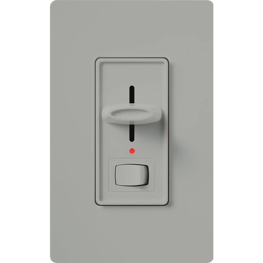 Lutron Skylark 1000-Watt Single Pole Gray Indoor Dimmer