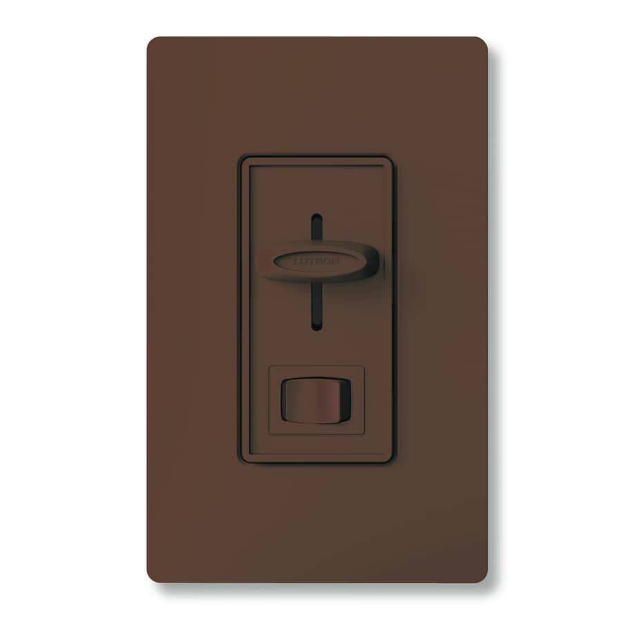 Lutron Skylark 300-Watt Single Pole Brown Indoor Dimmer