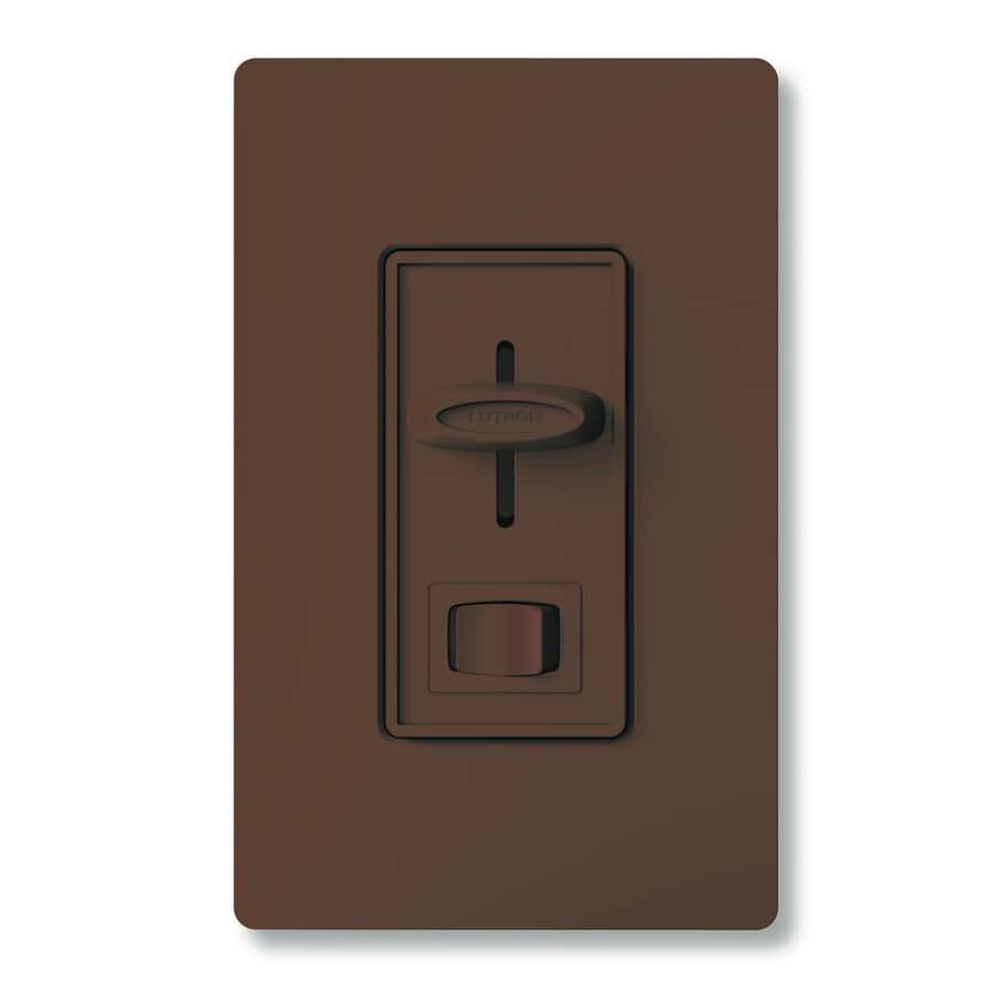 shop lutron skylark 300 watt single pole 3 way brown indoor dimmer at. Black Bedroom Furniture Sets. Home Design Ideas