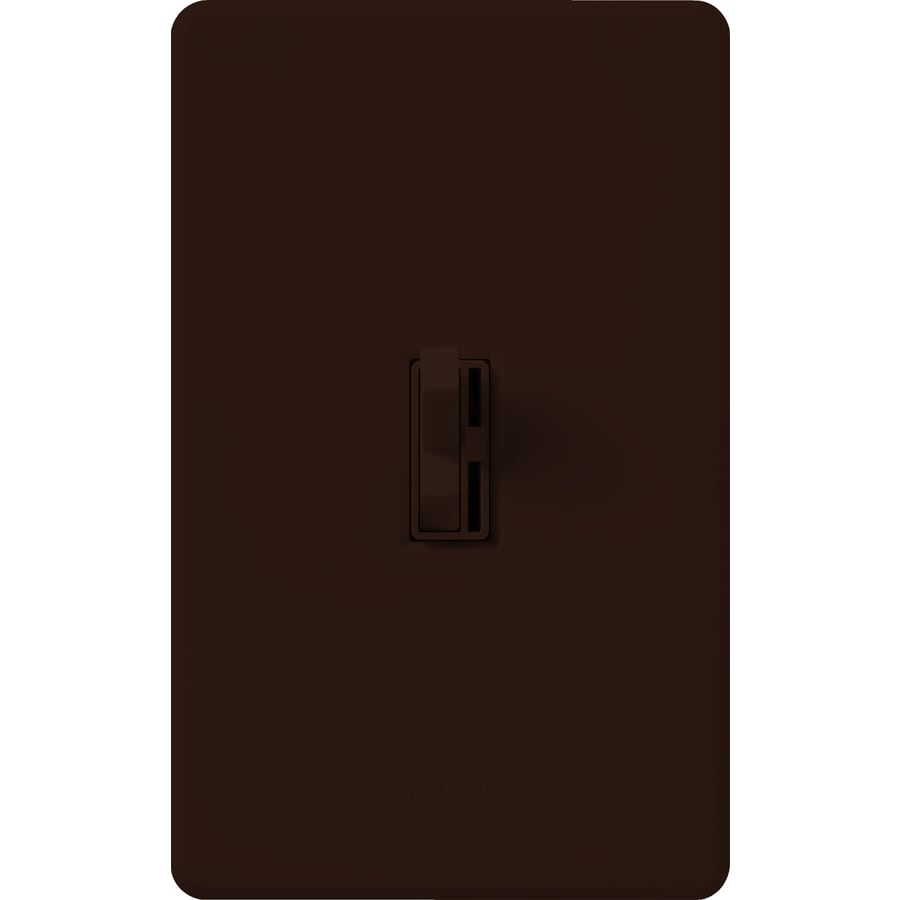Lutron Toggler 1,000-Watt Single Pole Brown Indoor Toggle Dimmer