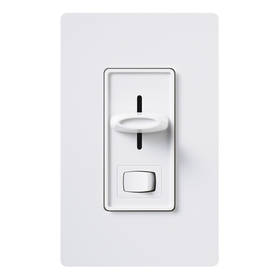 Lutron Skylark 1,000-Watt Single Pole 3-Way White Indoor Dimmer