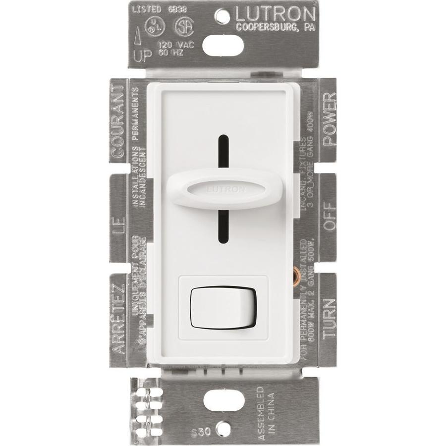 Lutron Skylark 600-Watt Single Pole White Indoor Dimmer