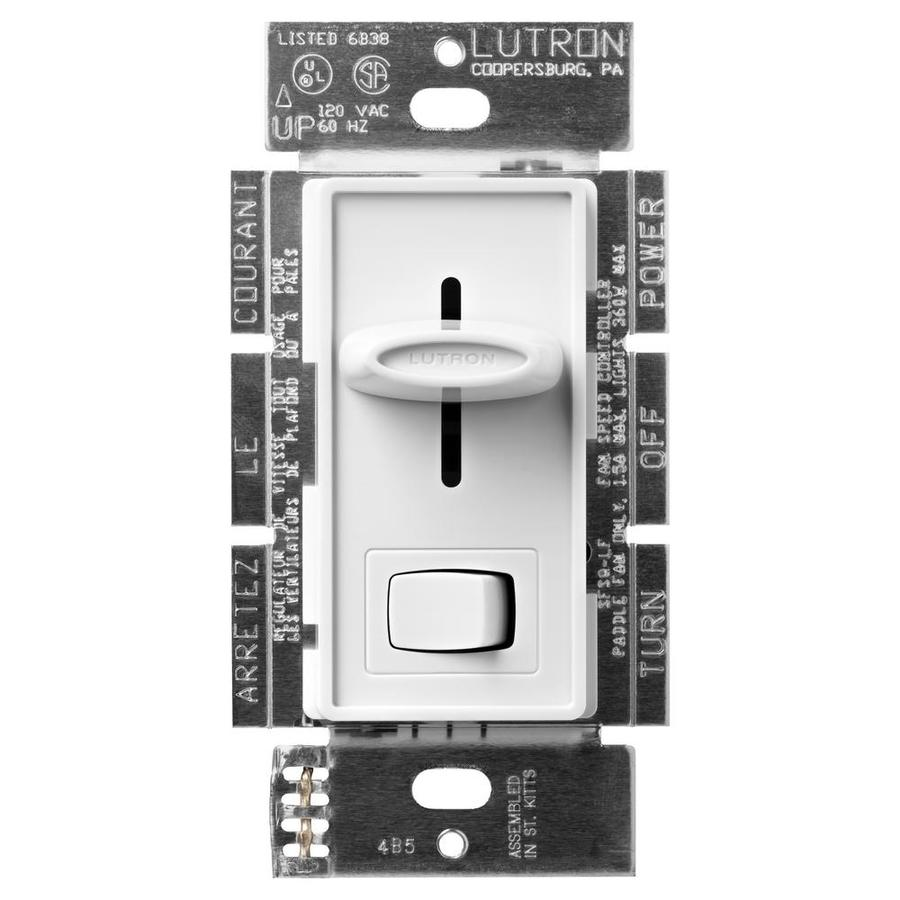 Shop Lutron Skylark Watt Single Pole Way White Indoor - 3 way switch electronics