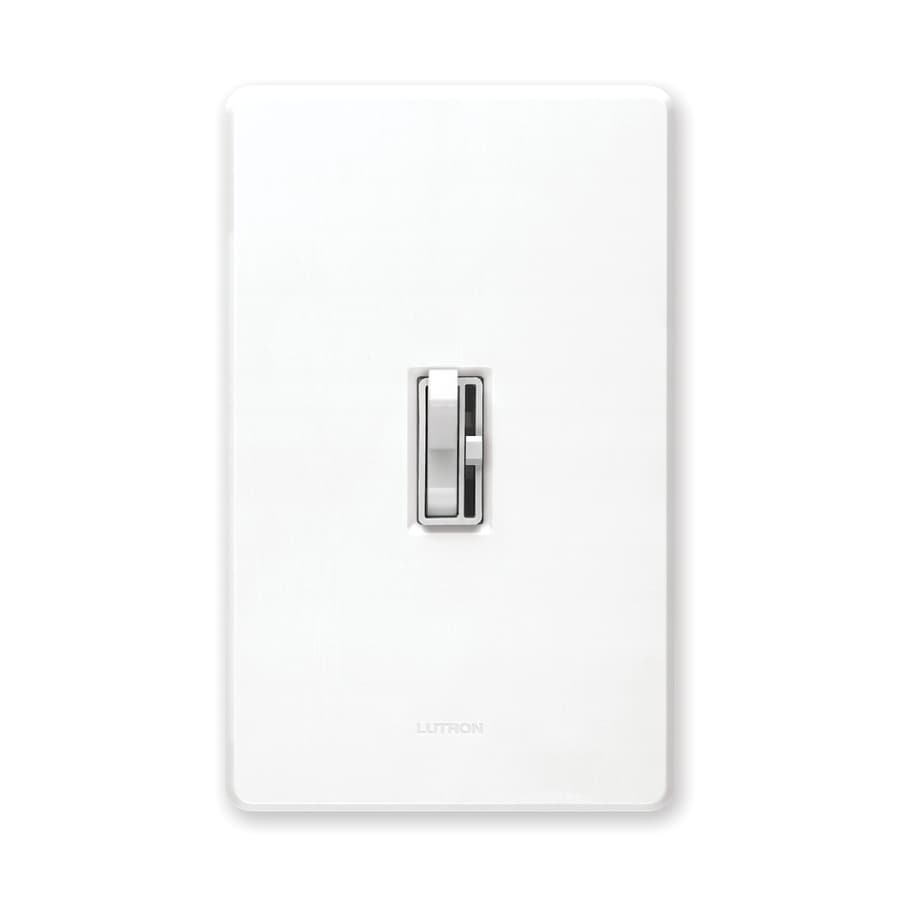 Lutron Toggler 600 Watt Single Pole White Dimmer At Lowes Com
