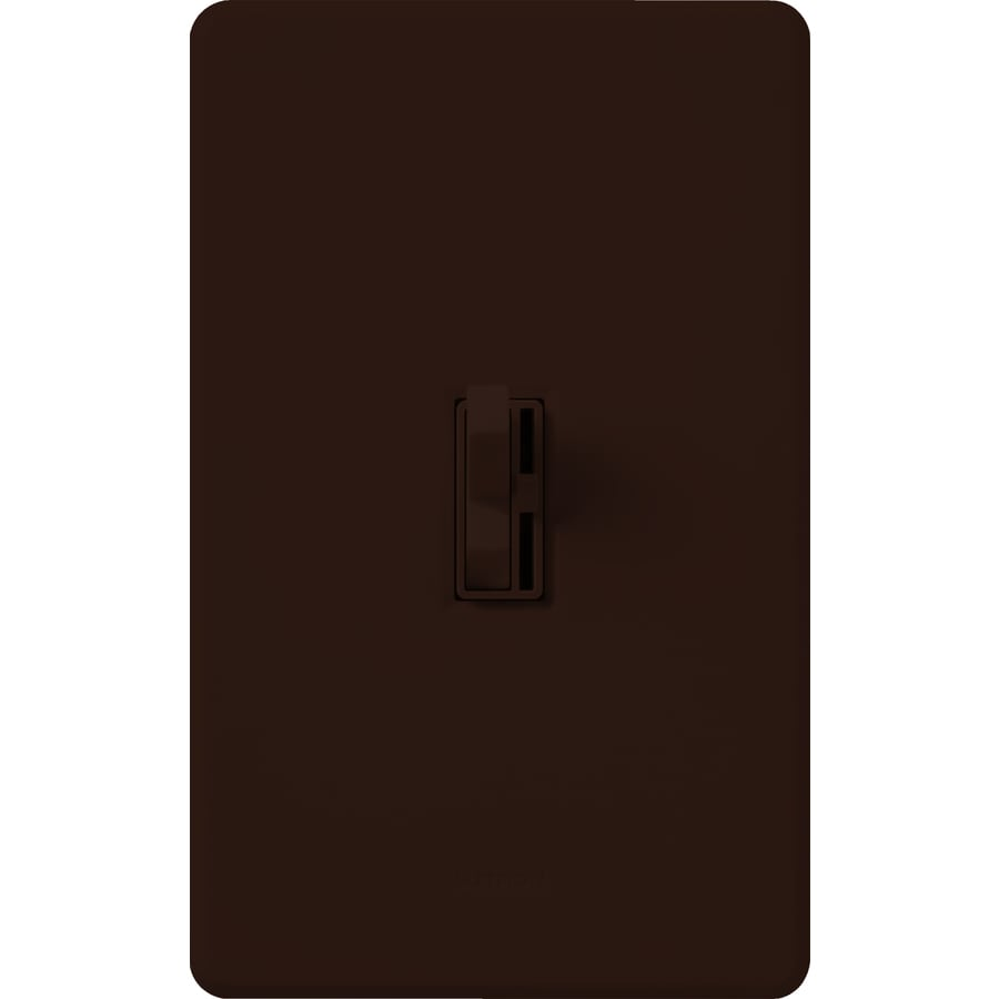 Lutron Toggler 600-watt Single Pole Brown Toggle Indoor Dimmer