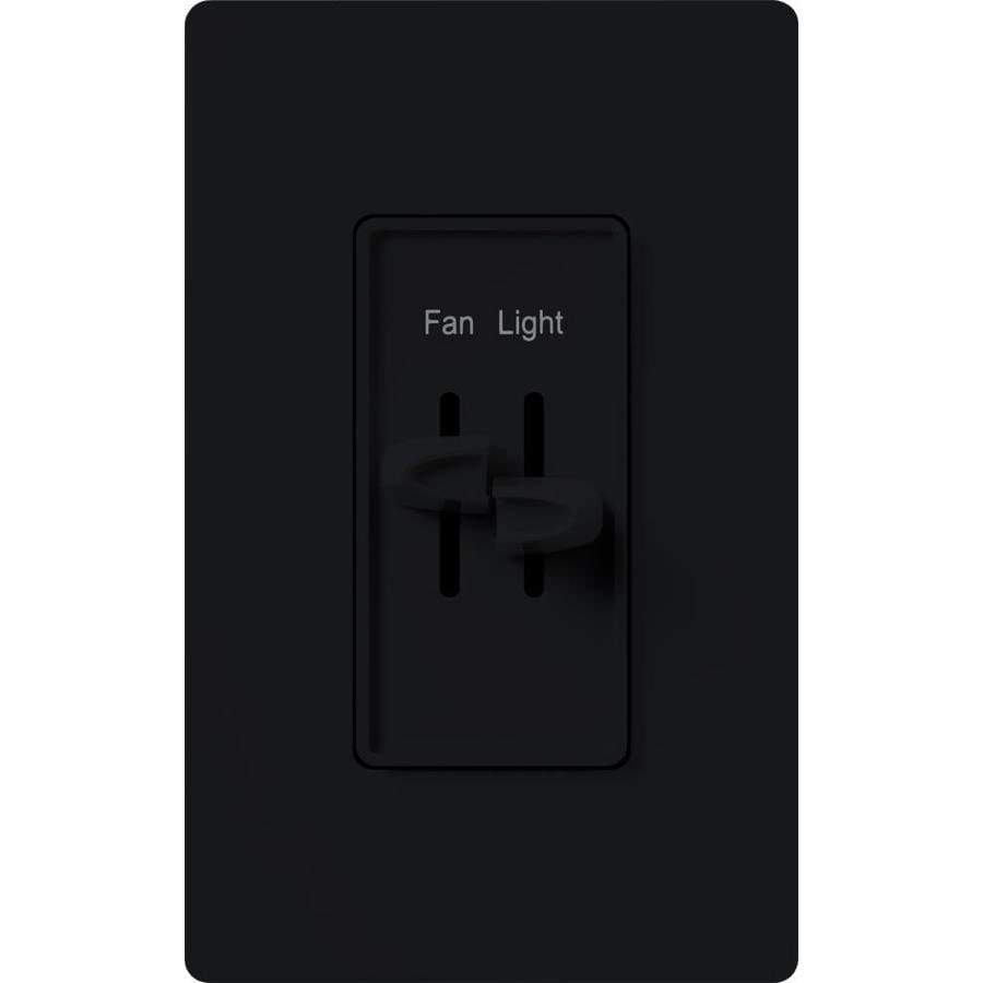Lutron Skylark 3-Speed 1.5-Amp Black Indoor Slide Fan Control