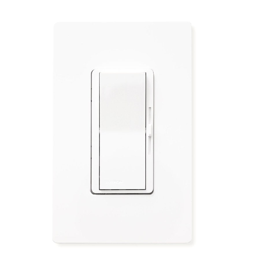 Shop Lutron Diva 600 Watt Single Pole White Indoor Dimmer