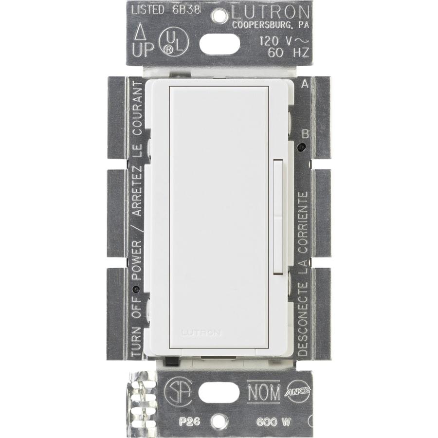 Lutron Maestro Companion 600-Watt Single Pole 3-Way White Indoor Dimmer