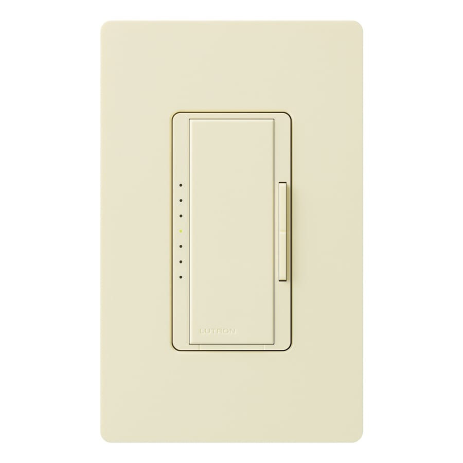 Lutron Maestro 1000-Watt Double Pole 3-Way/4-Way Almond Tap Indoor Dimmer