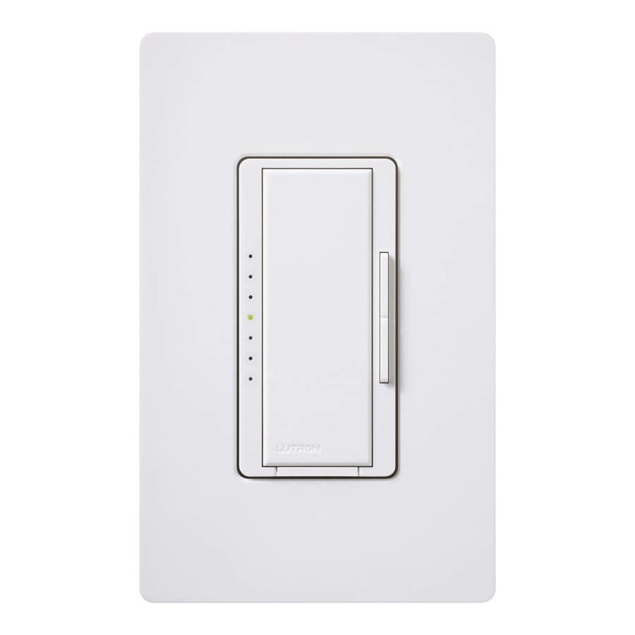 Lutron Maestro 800-Watt Double Pole 3-Way/4-Way White Indoor Tap Dimmer