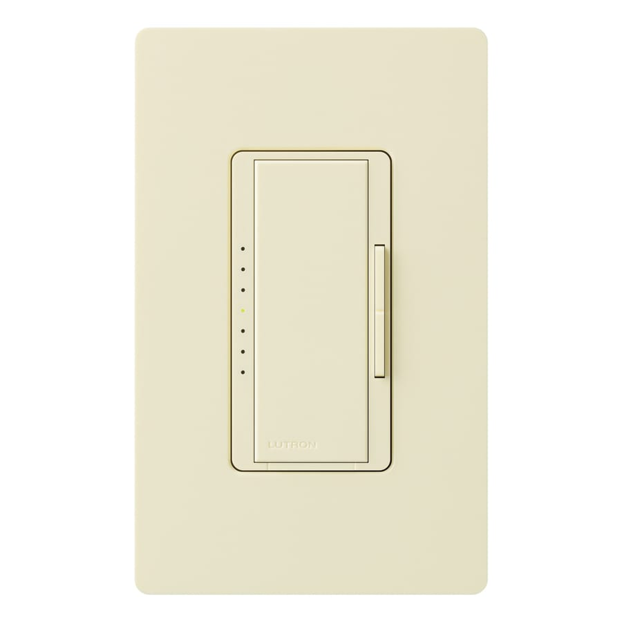 Lutron Maestro 800-Watt Double Pole 3-Way/4-Way Almond Indoor Tap Dimmer