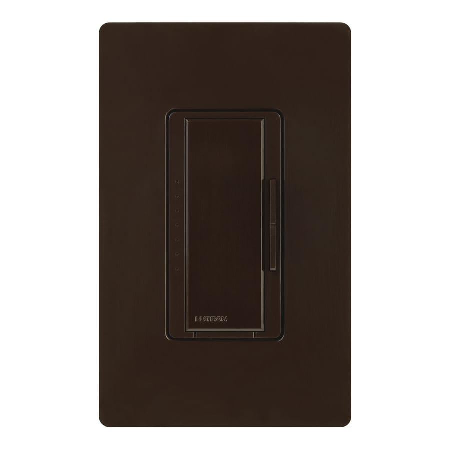 Lutron Maestro 450-Watt Double Pole 3-Way/4-Way Brown Tap Indoor Dimmer