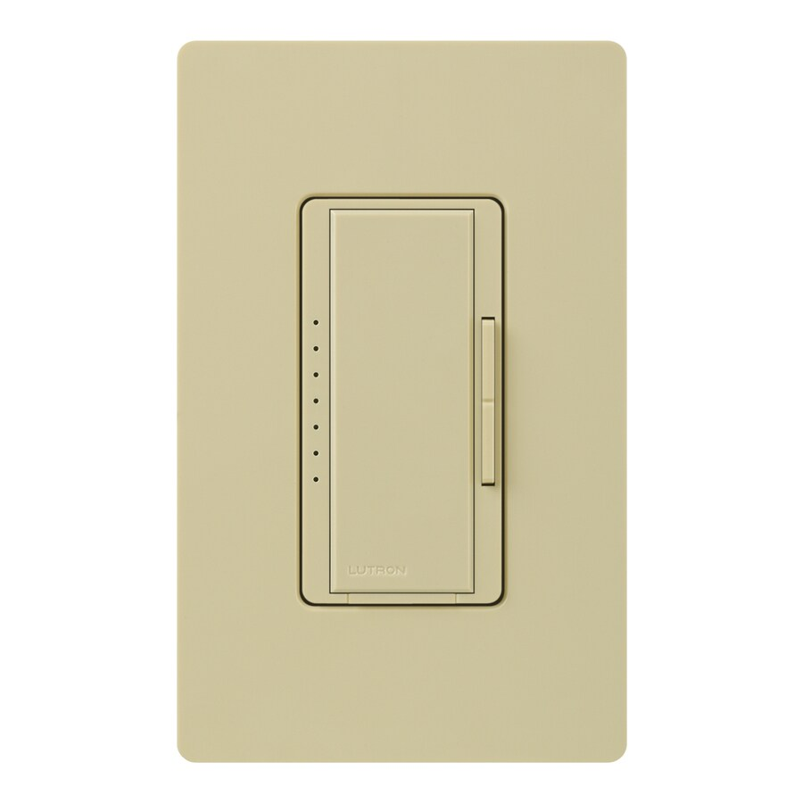Lutron Maestro 450-Watt Double Pole 3-Way/4-Way Ivory Indoor Tap Dimmer