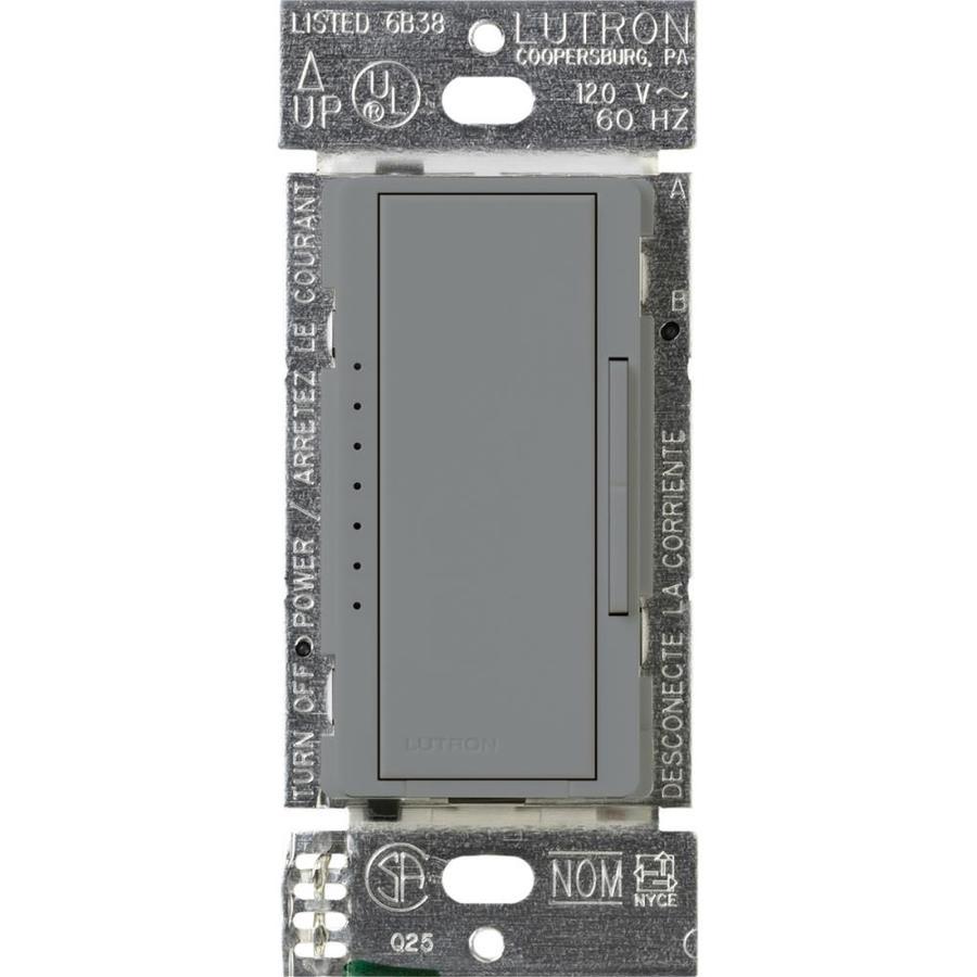Lutron Maestro 600-Watt Double Pole 3-Way/4-Way Gray Tap Indoor Dimmer