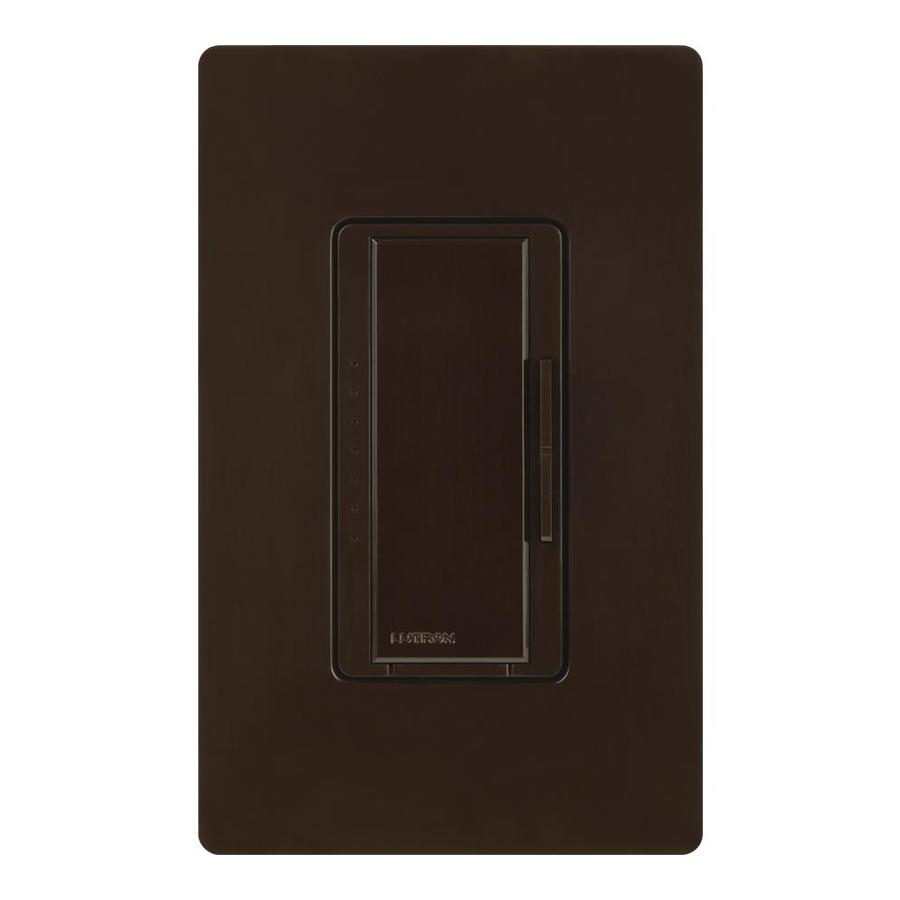 Lutron Maestro 600-Watt Double Pole 3-Way/4-Way Brown Indoor Tap Dimmer
