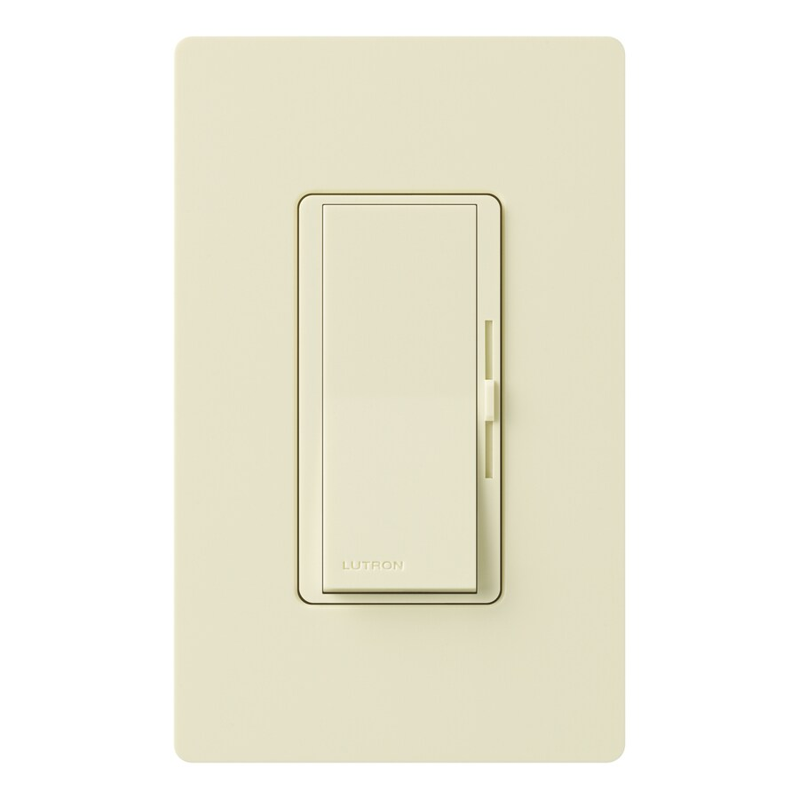 Lutron Diva 1,000-Watt Single Pole Almond Indoor Dimmer