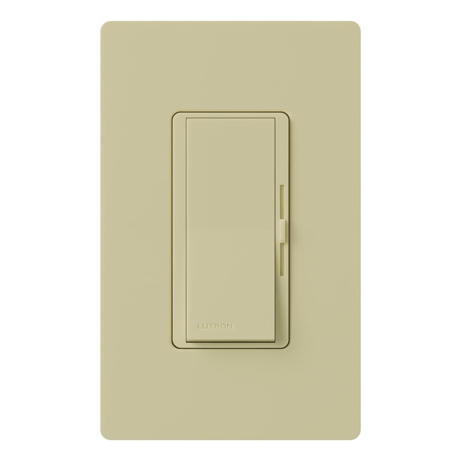 Lutron Diva 1000-watt Single Pole Ivory Indoor Dimmer