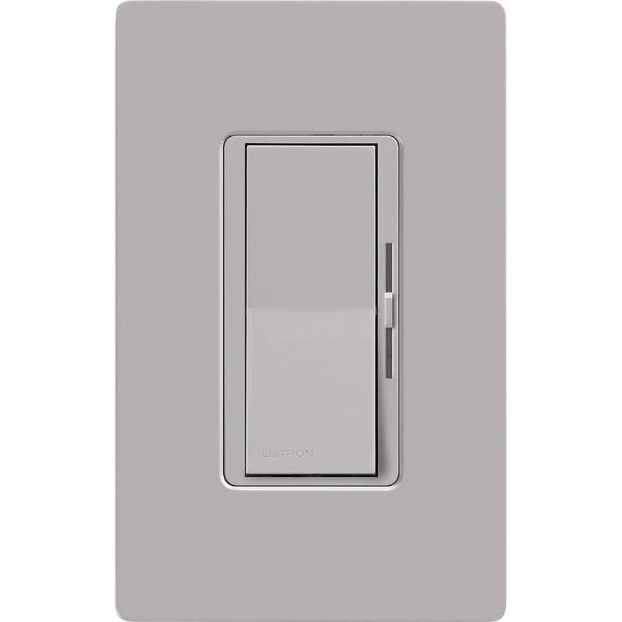 Lutron Diva 1000-Watt Single Pole 3-Way Gray Indoor Dimmer