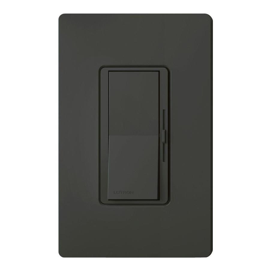 Lutron Diva 1000-watt Single Pole Black Indoor Dimmer