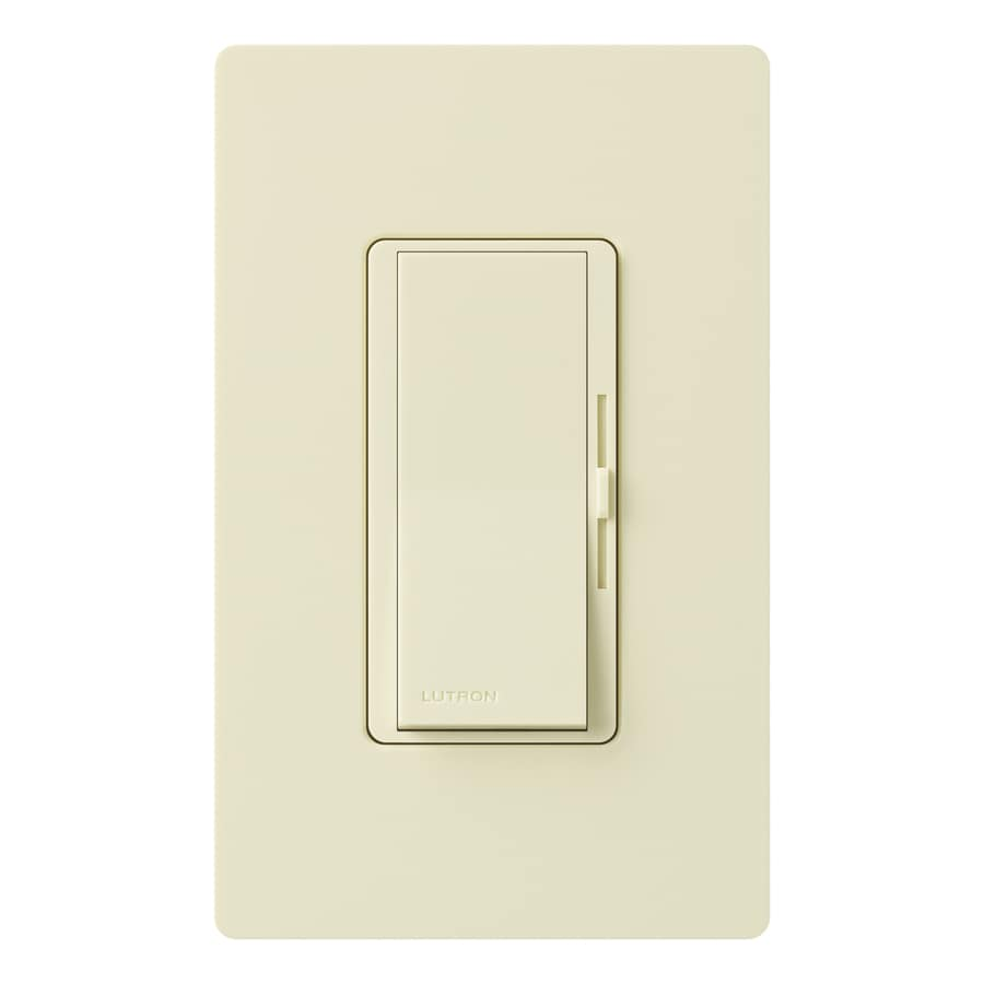 Lutron Diva 1000-watt Single Pole Almond  Indoor Dimmer