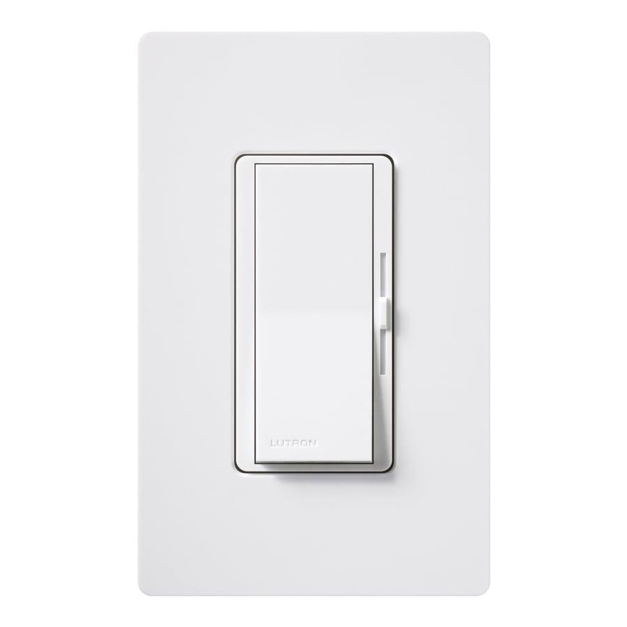 Lutron Diva 1000-Watt Single Pole White Indoor Dimmer