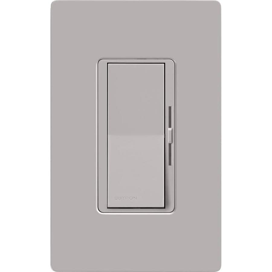 Lutron Diva 600-Watt Single Pole 3-Way Gray Indoor Dimmer