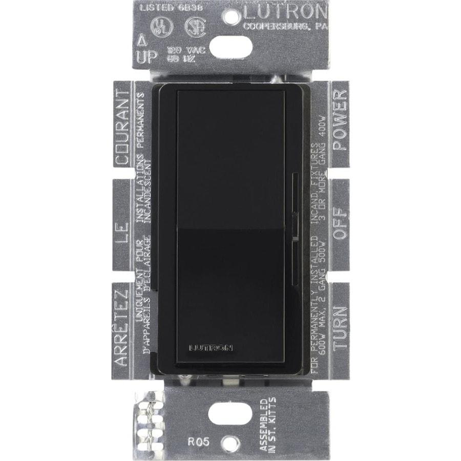 Lutron Diva 5-Amp 600-Watt Black 3-Way Preset Dimmer
