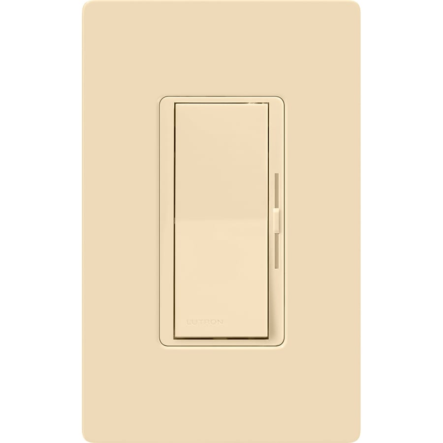 lutron diva 600-watt single-pole/3-way ivory dimmer