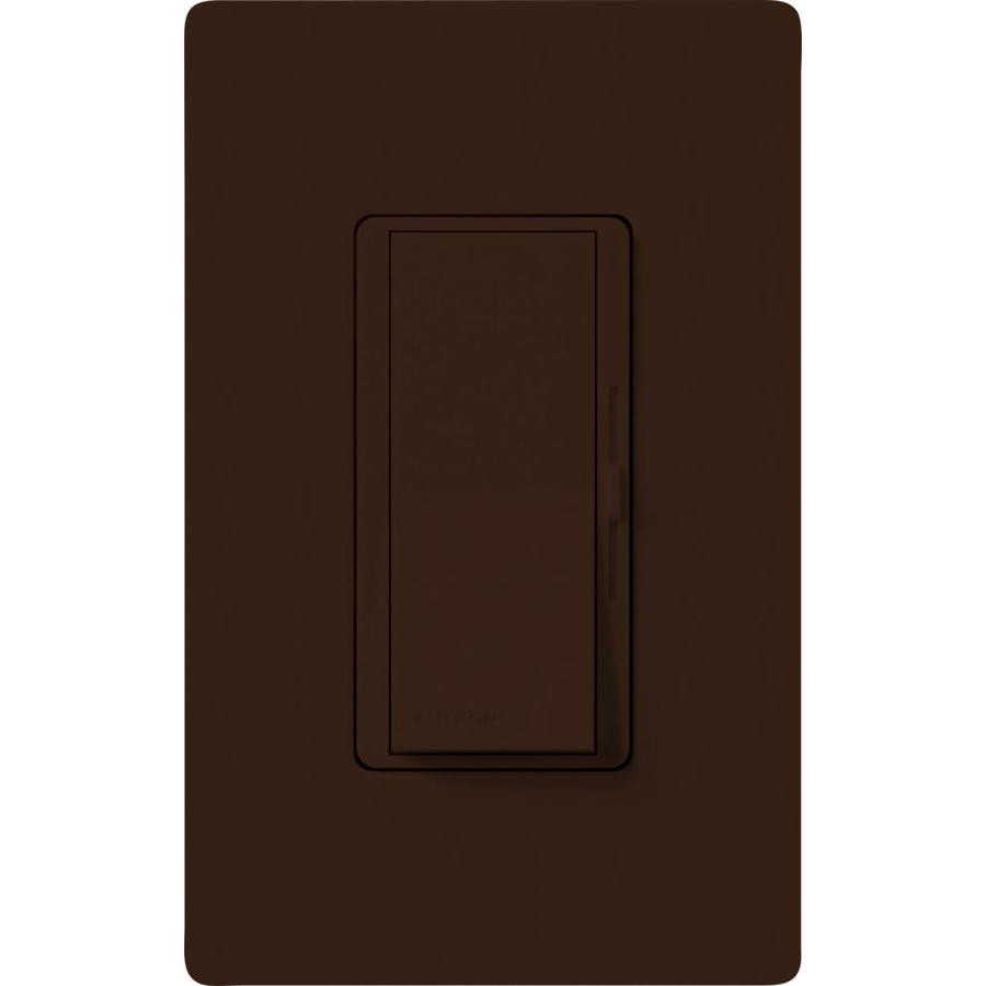 Lutron Diva 600-Watt Single Pole Brown Indoor Dimmer
