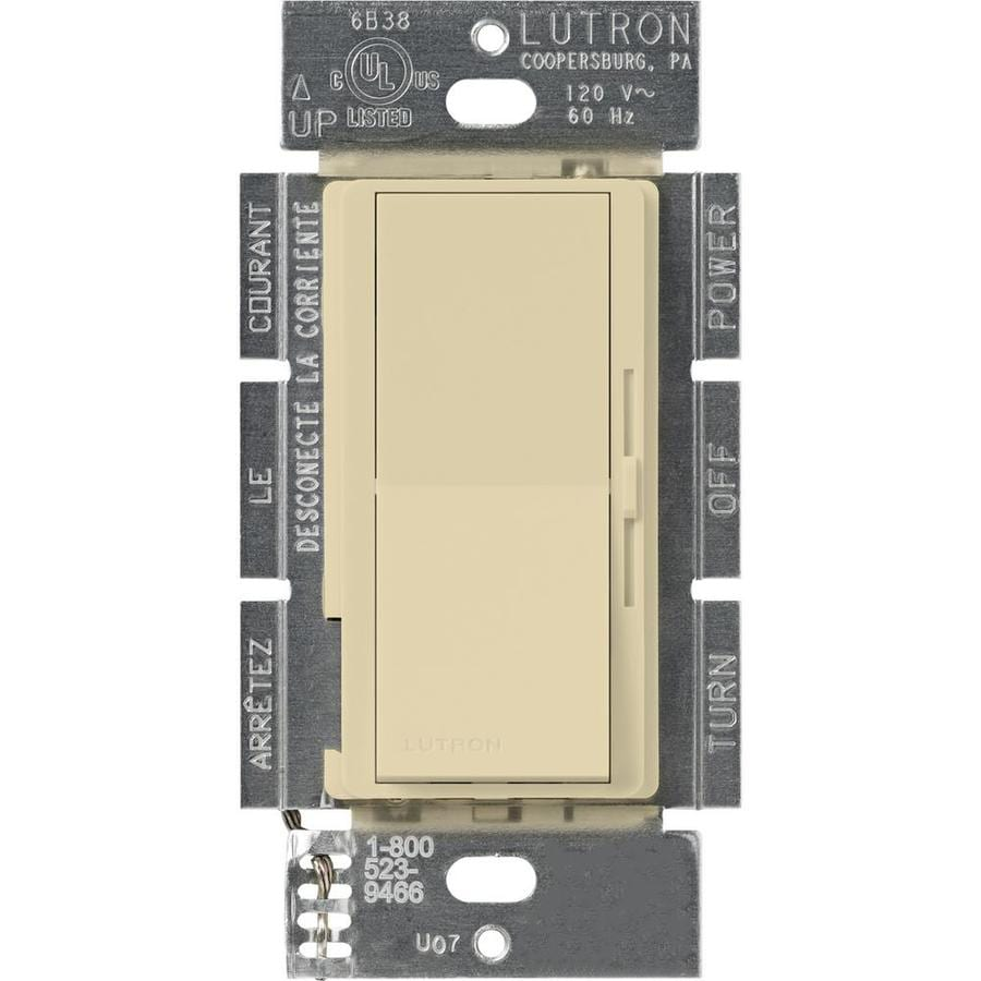 Lutron Diva 450-Watt Single Pole Ivory Indoor Dimmer