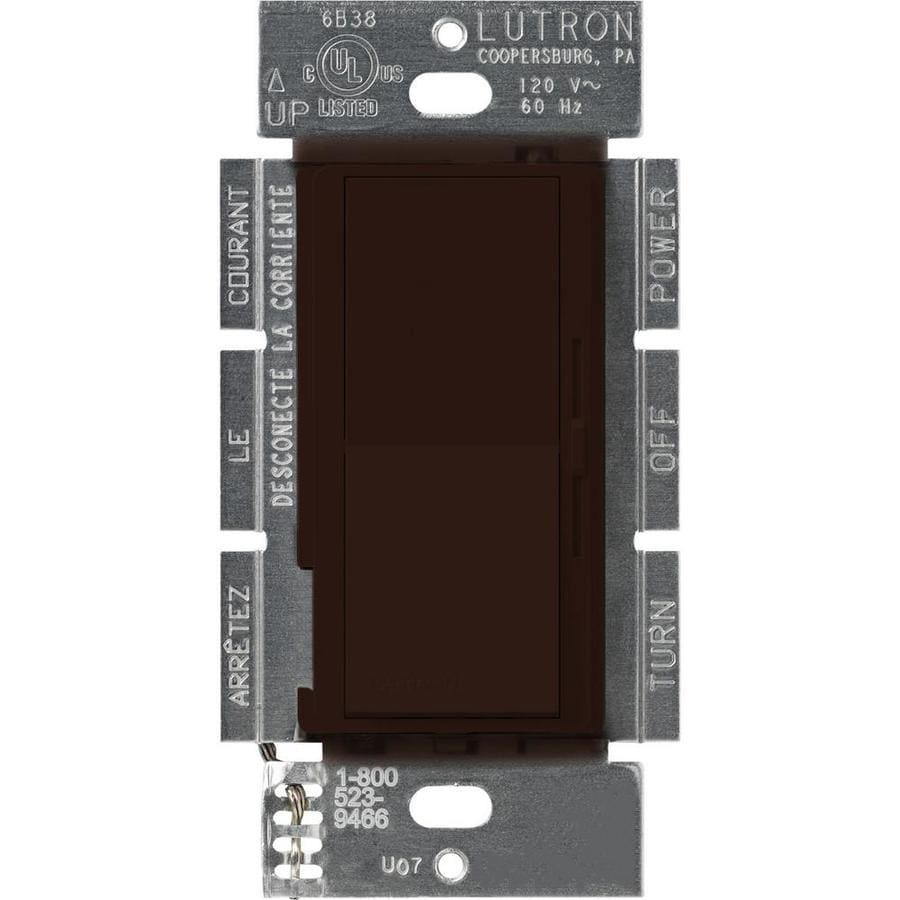 Lutron Diva 450-Watt Single Pole Brown Indoor Dimmer