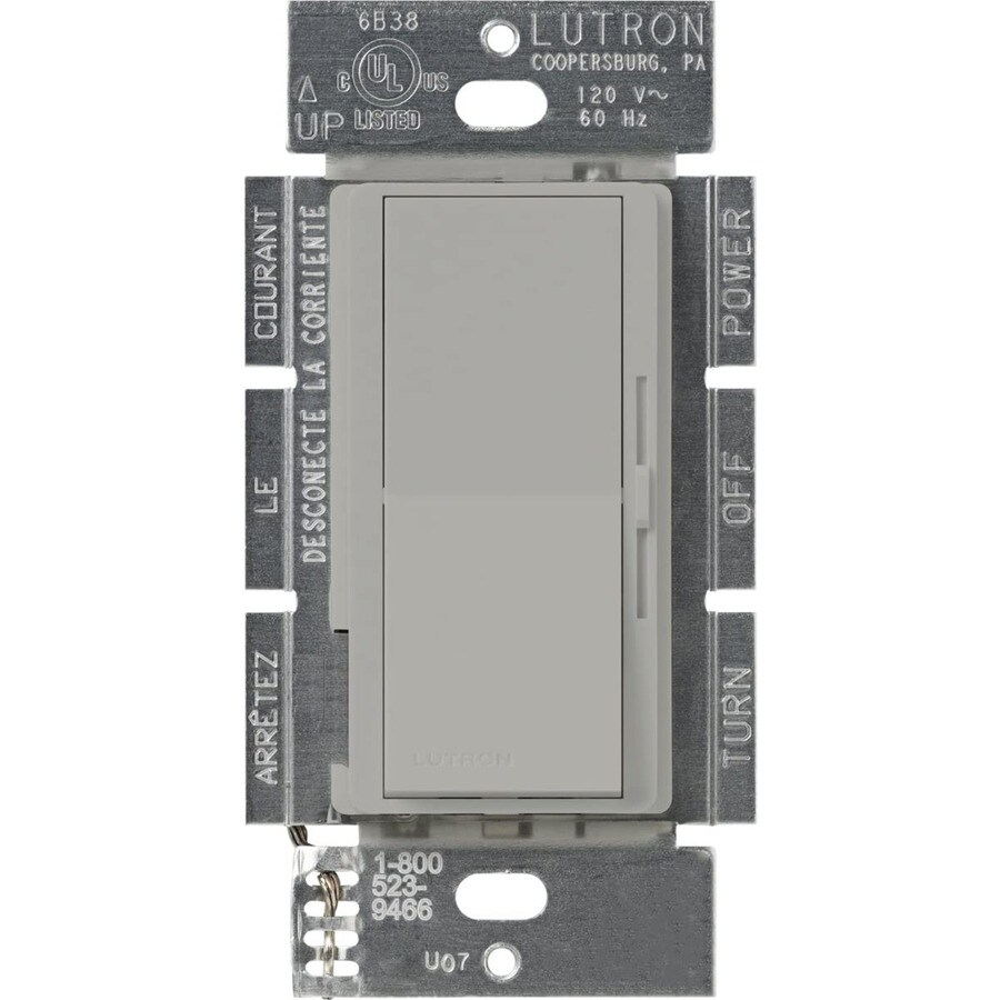 Lutron Diva 450-Watt Single Pole Gray Indoor Dimmer