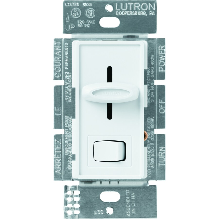 Lutron Skylark 1,000-Watt Single Pole White Indoor Dimmer