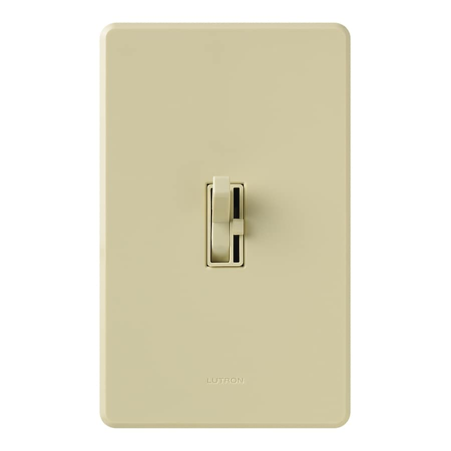 Lutron Toggler 1,000-Watt Single Pole 3-Way Ivory Indoor Toggle Dimmer