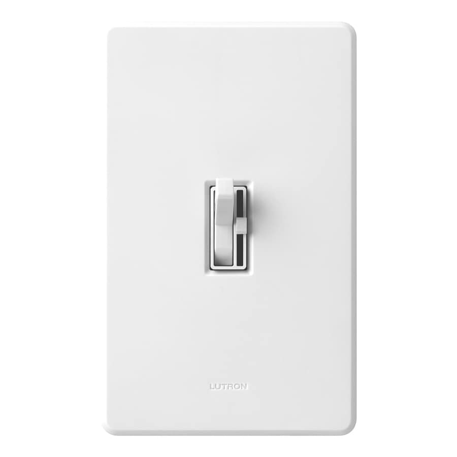 Lutron Toggler 600-Watt Single Pole White Toggle Indoor Dimmer