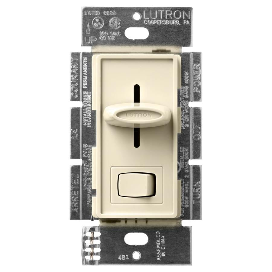 Lutron Skylark 600-Watt Single Pole 3-Way Almond Indoor Dimmer