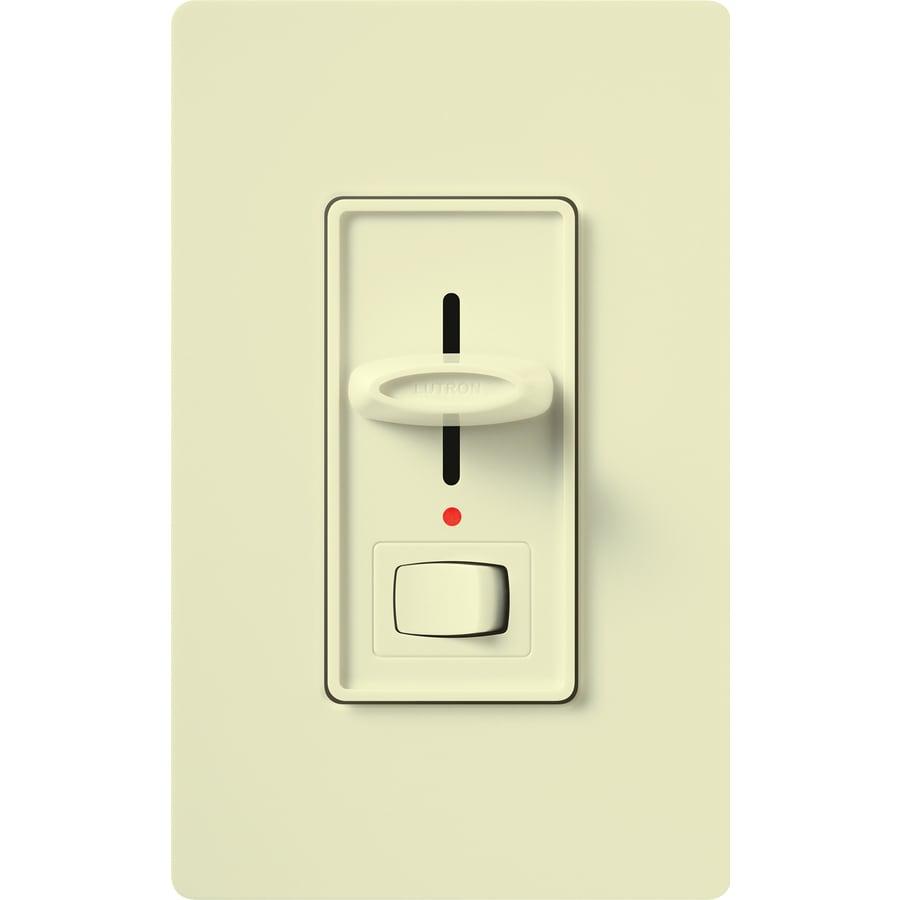 Lutron Skylark 0-Switch 600-Watt Single Pole 3-Way Almond Indoor (Control) Dimmer