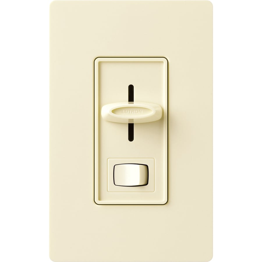 Lutron Skylark 450-Watt Single Pole 3-Way Almond Indoor Dimmer