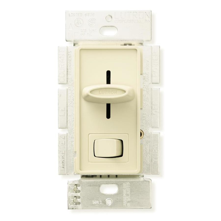 Shop lutron skylark 15 amp single pole almond indoor combination lutron skylark 15 amp single pole almond indoor combination dimmer and fan control mozeypictures Images